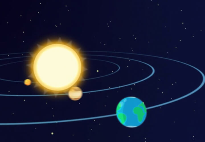 Развивающее приложение для детей о космосе
